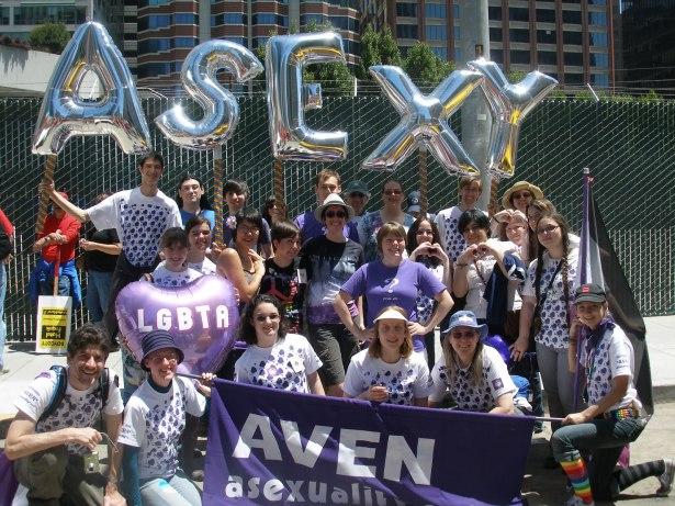 groupe asexuel à la pride 2011 de San Fransisco